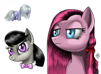 Silent Ponyville Character Collage