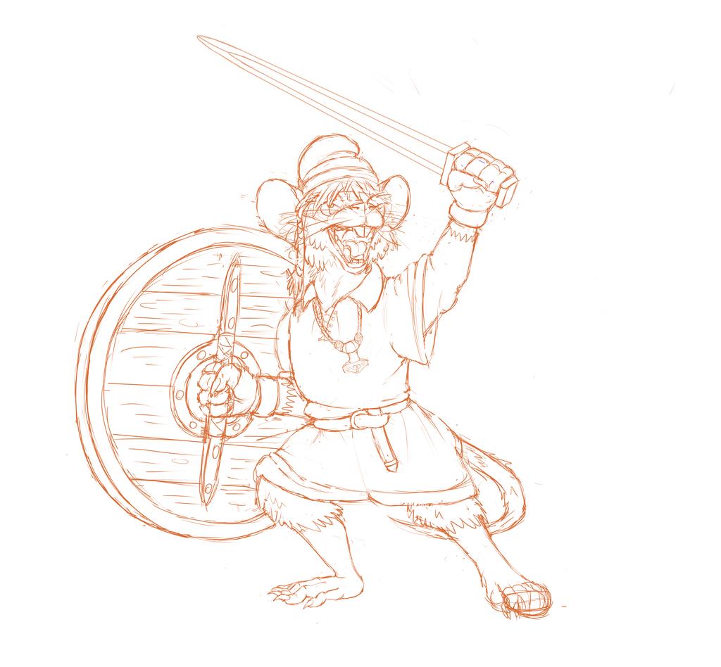 Most recent image: Mouse Warrior Sketch v2