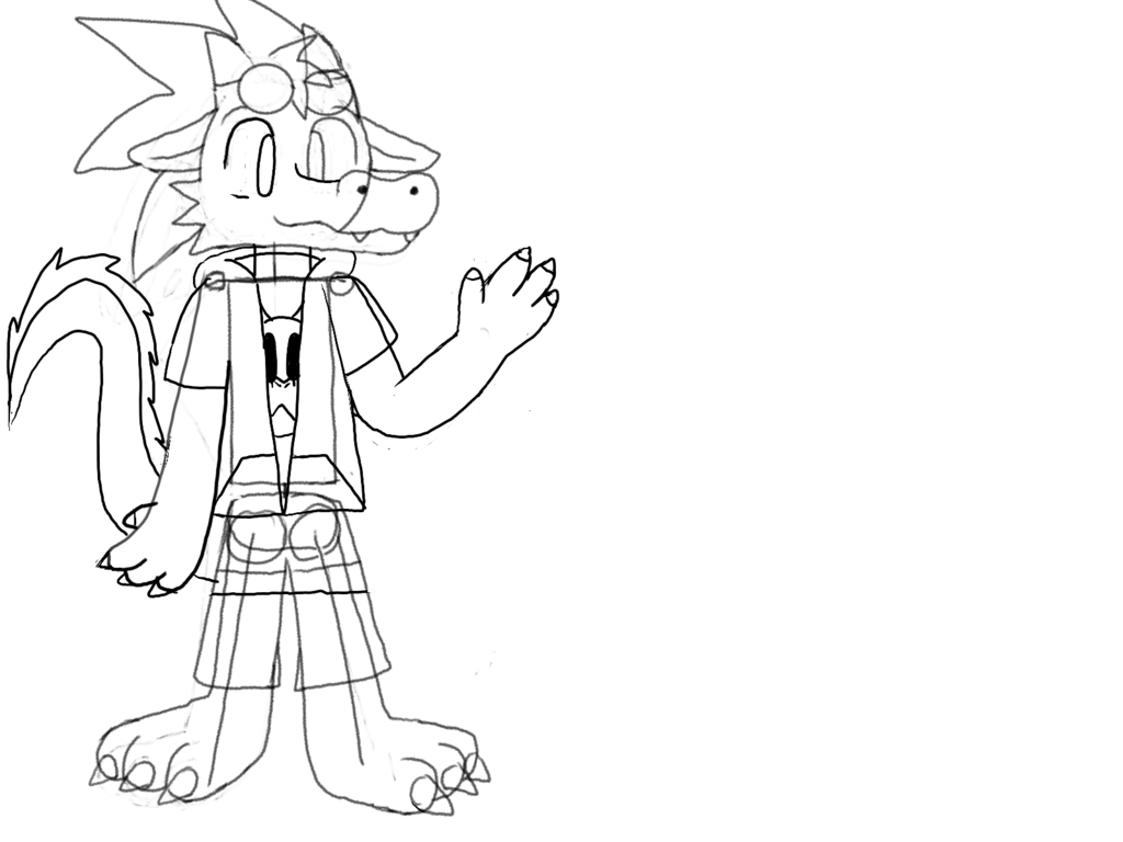 Most recent image: fursona redesign concept 01