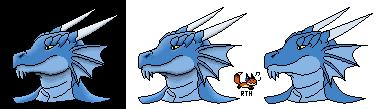 8bit Dragon (Red the Hunter)