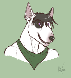 Colored Sketch - Peable bust