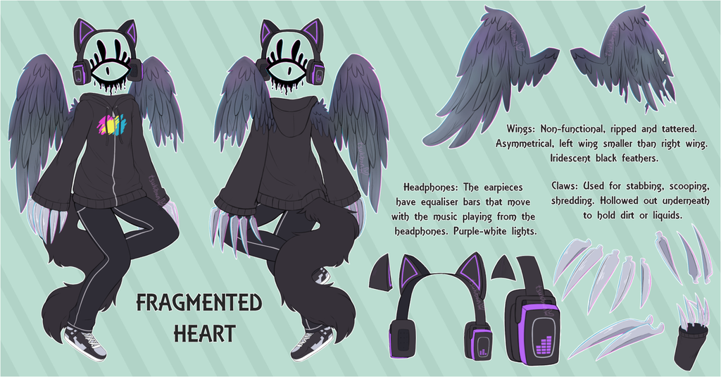 Most recent image: [C] Fragmented Heart Reference Sheet