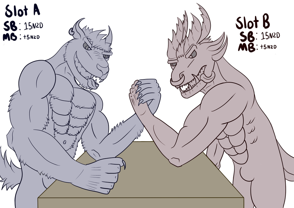 [YCH Auction] Arm wrestling - Bid via furraffinity