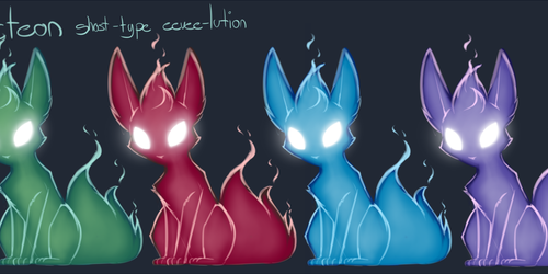 i made a ghost-type eevee~
