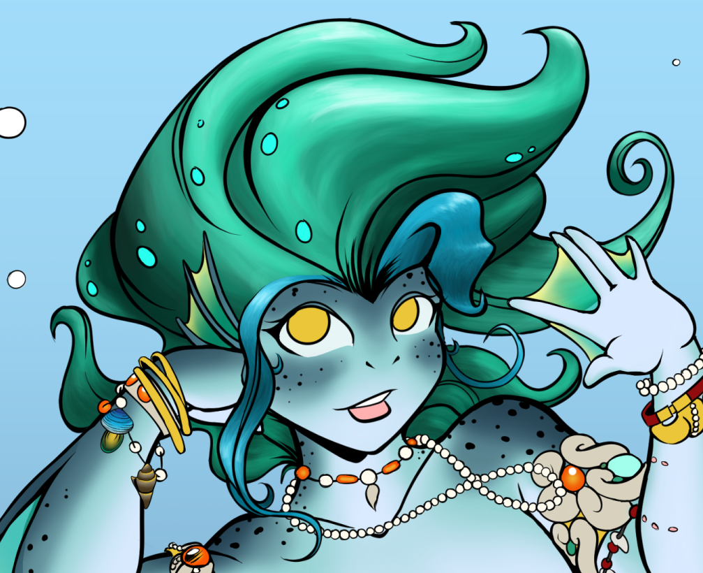 Most recent image: WIP Zora's Hair - Day 2 (Sai trial)