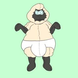 Rubber Sheep Suit