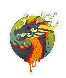 Lava Dragon - by Acidapluvia
