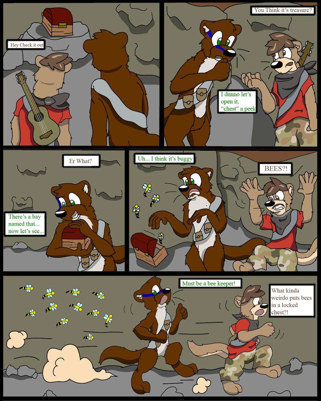 Treasure hunting when suddenly....