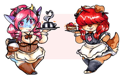 Cafe Maids At Your Serivce [Gift]