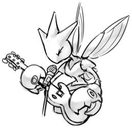 Scizor Playing a Guitar