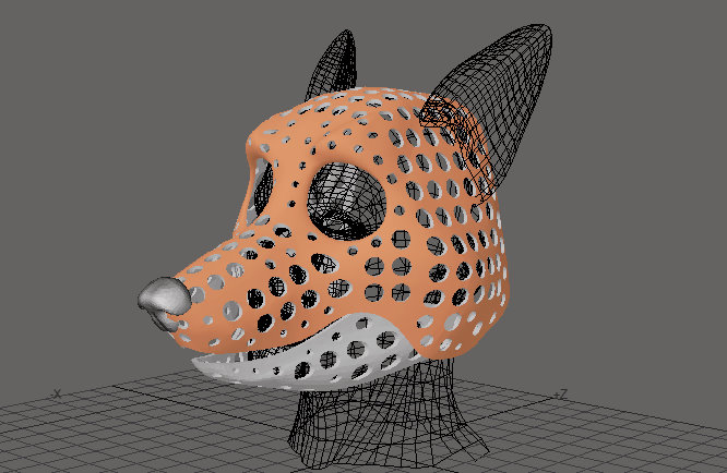 Most recent image: Fox head base new version