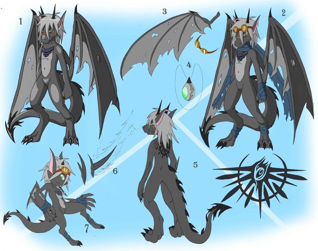 the gray dragon ref sheet