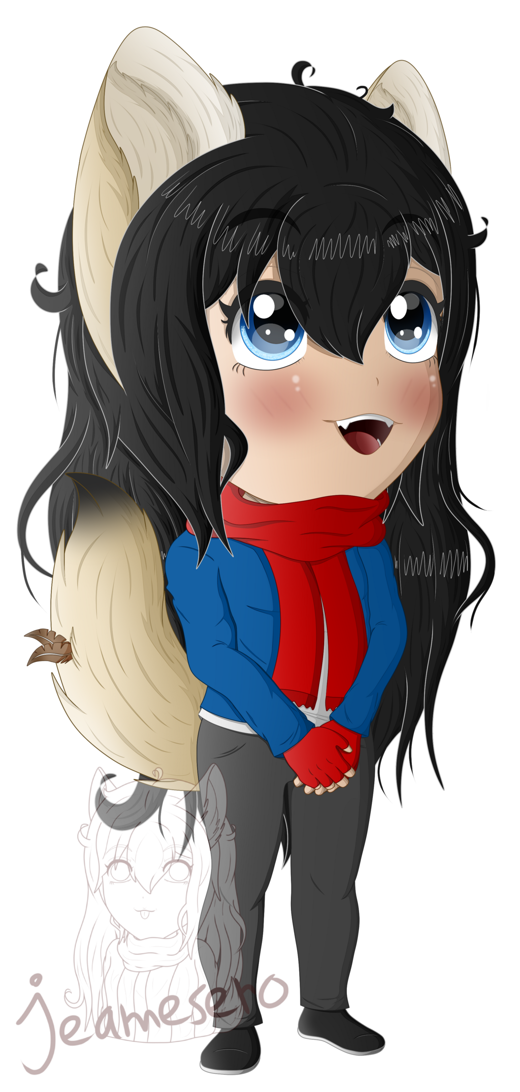 Colored and shaded chibi 2.0