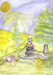 Wolf Lady Camping