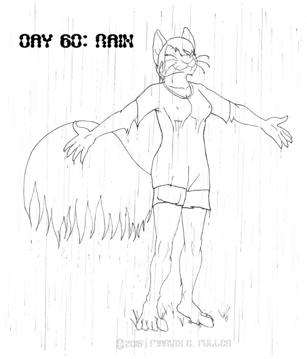 Daily Sketch 60 - Rain