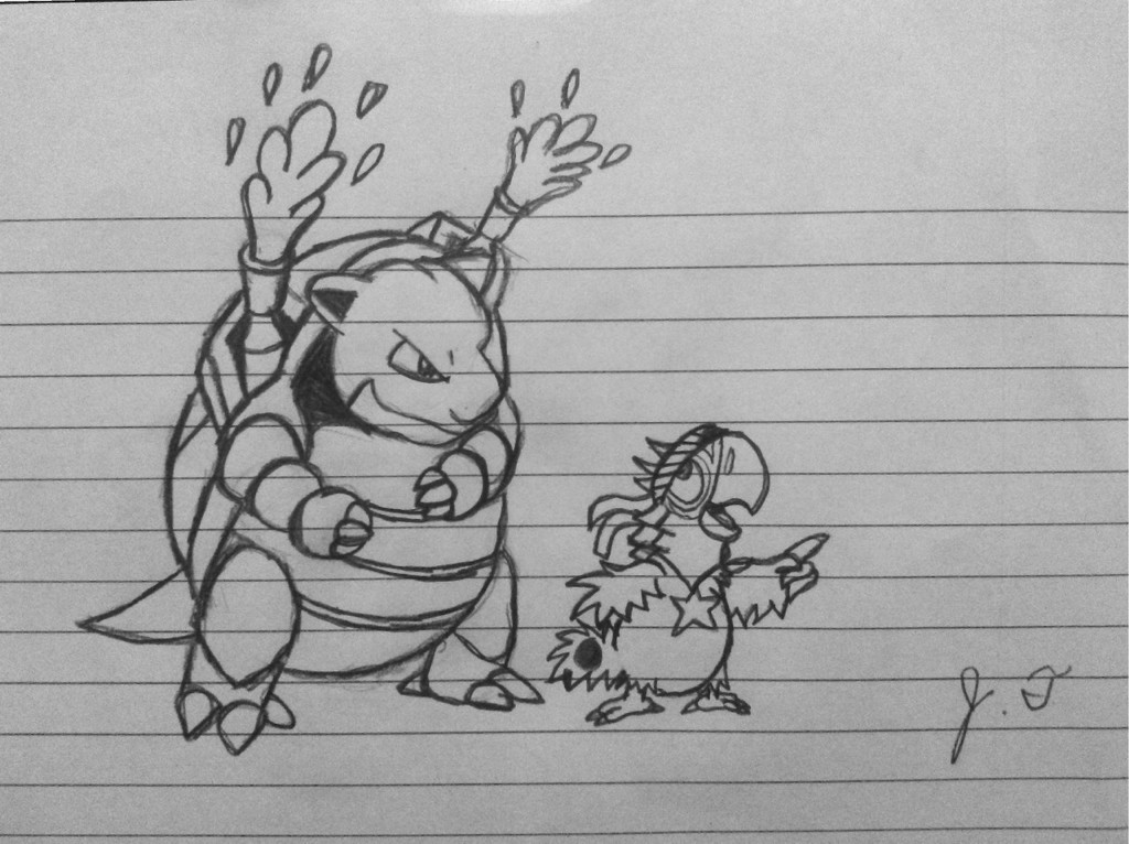 Most recent image: Pokemon Drawings - Blastoise