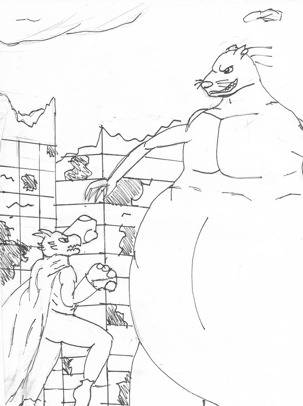 Ryuu vs Giant Rat