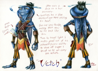 Vetch, a goblin of the blue persuasion.