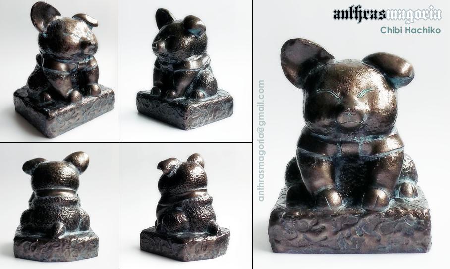 Chibi Hachiko sculpture (for sale)