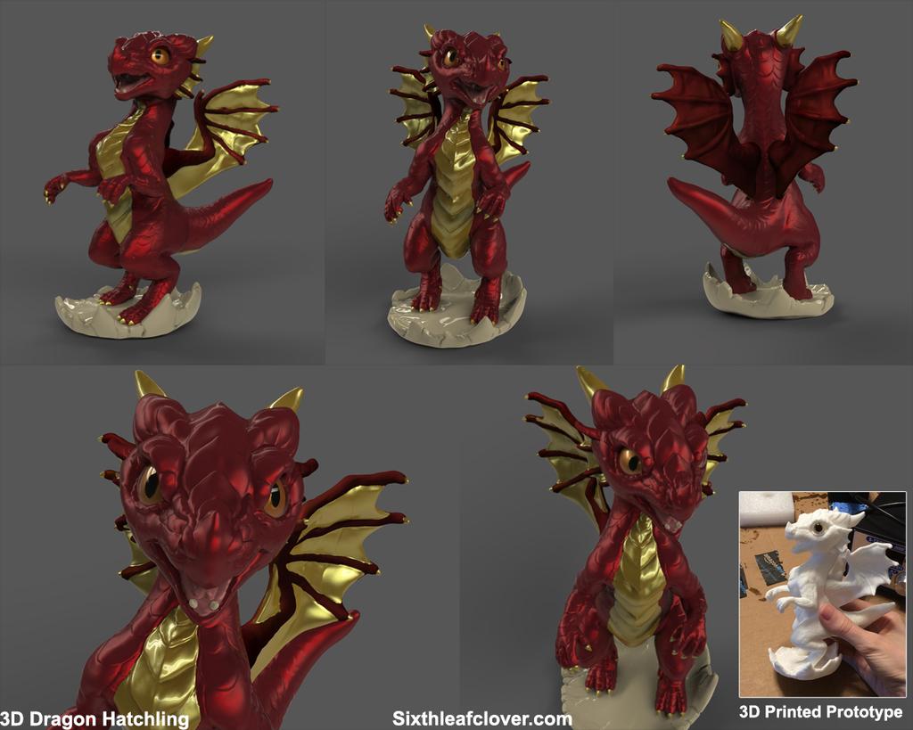 3D Dragon Hatchling