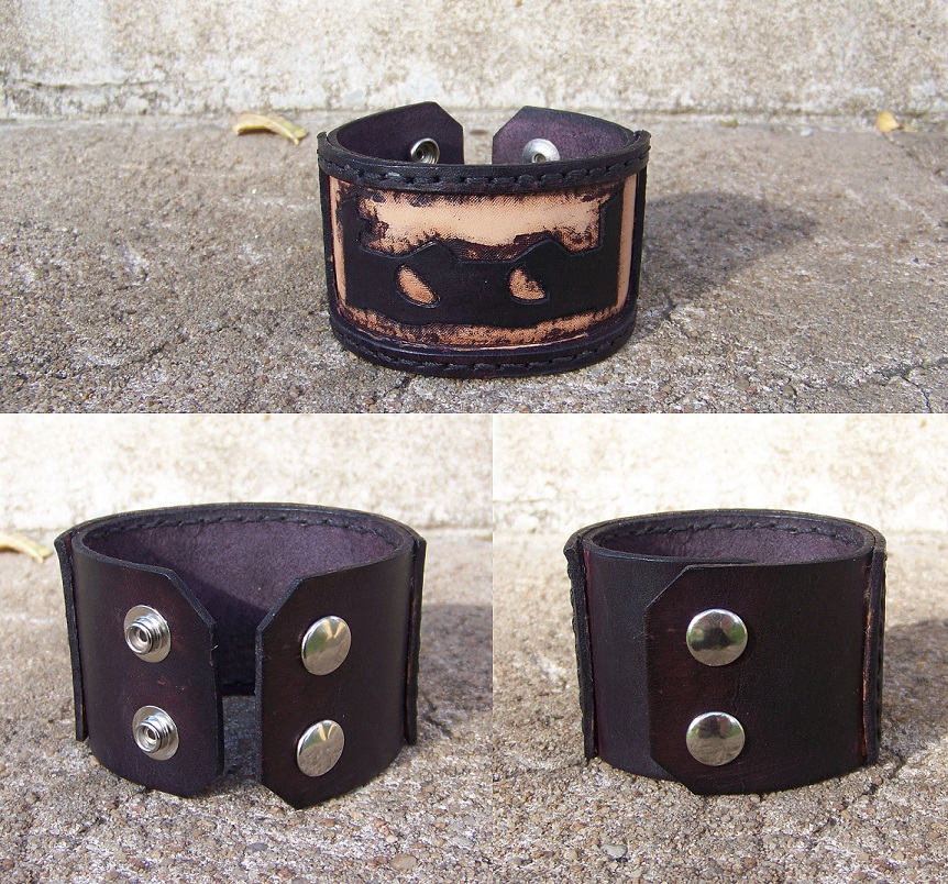 Leather Projects - TOOL Wristband