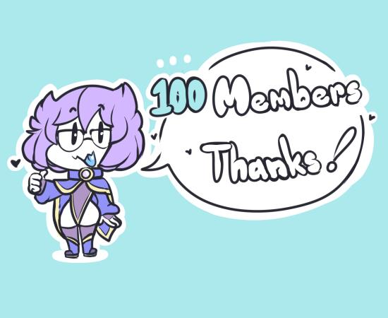 100 members thanks!