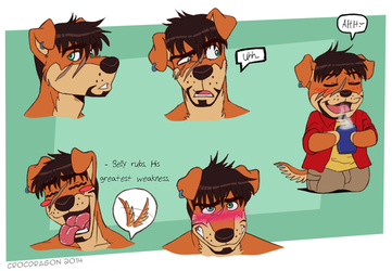 Expression Sheet: Derek