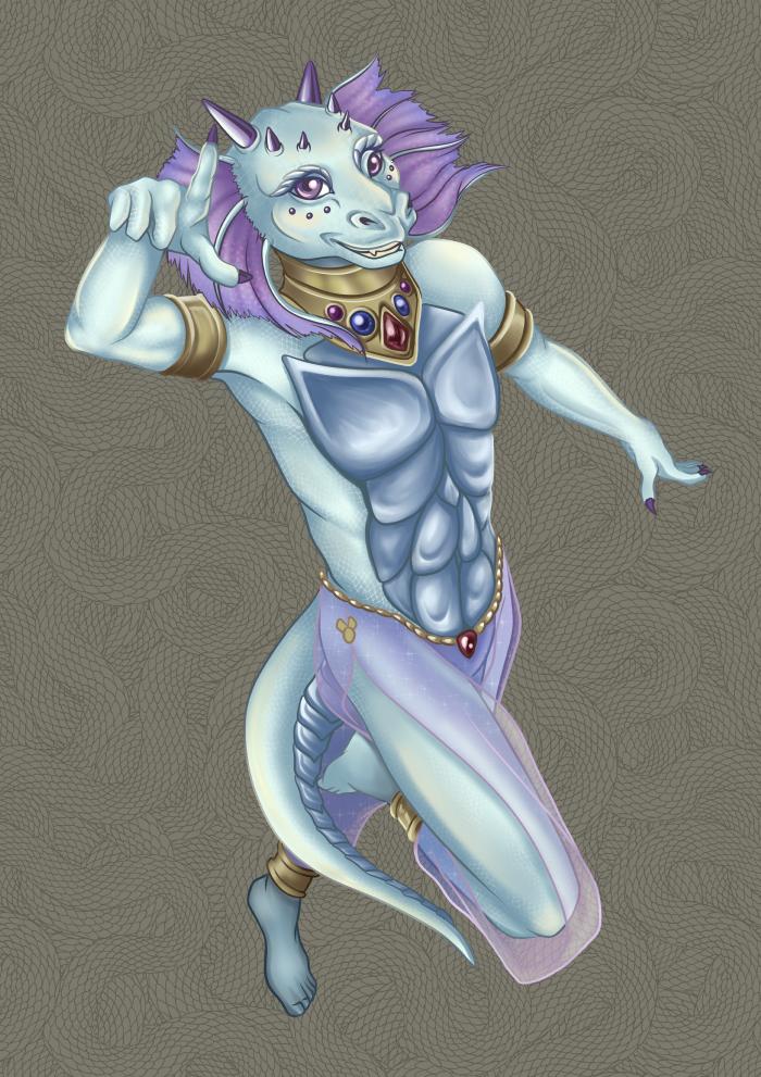 Silver Dragon Dancer