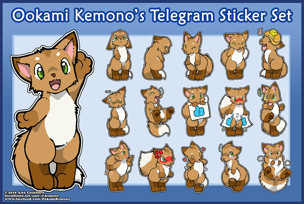 Ookami Kemono Telegram Sticker Set