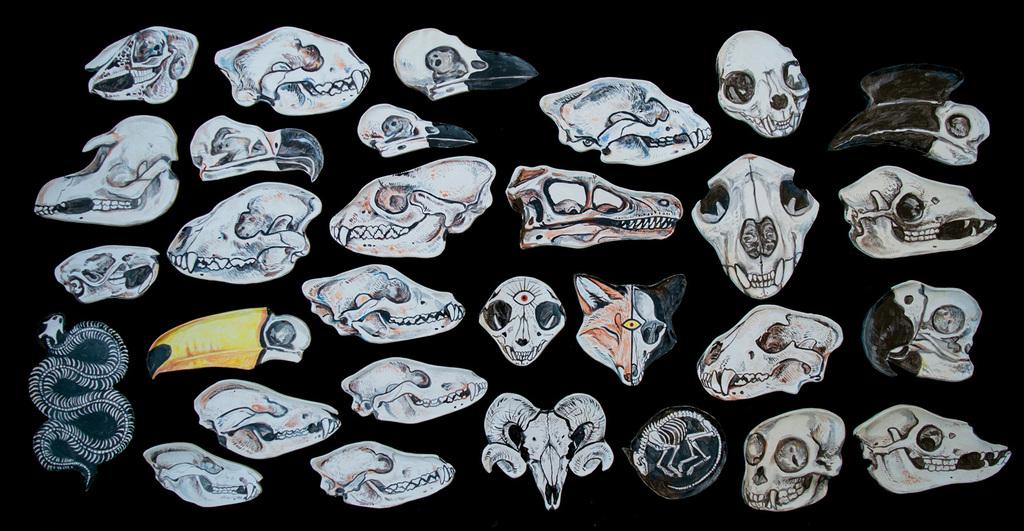 Ceramic Skull Plates