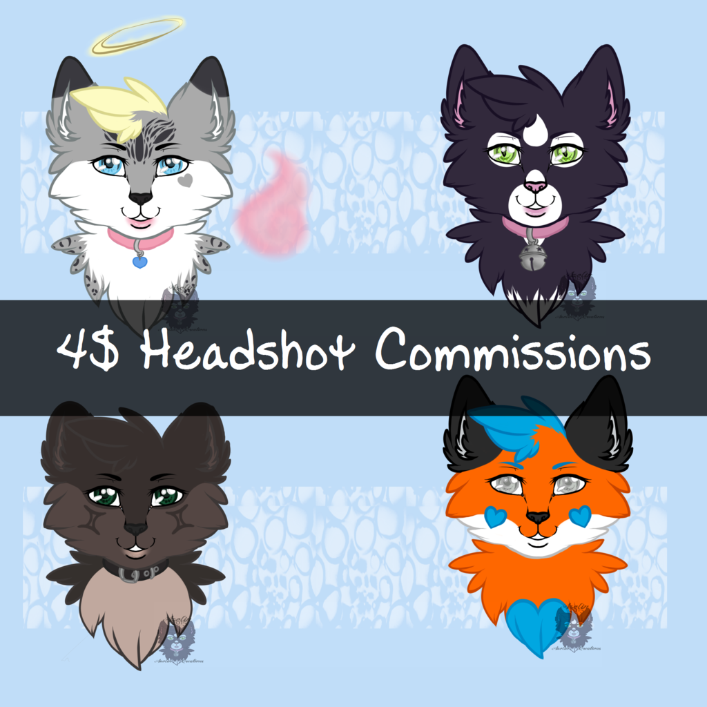 4$ Headshot Commissions