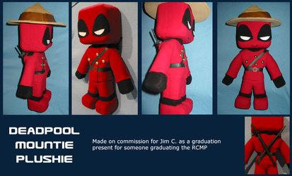 Deadpool Mountie Plush