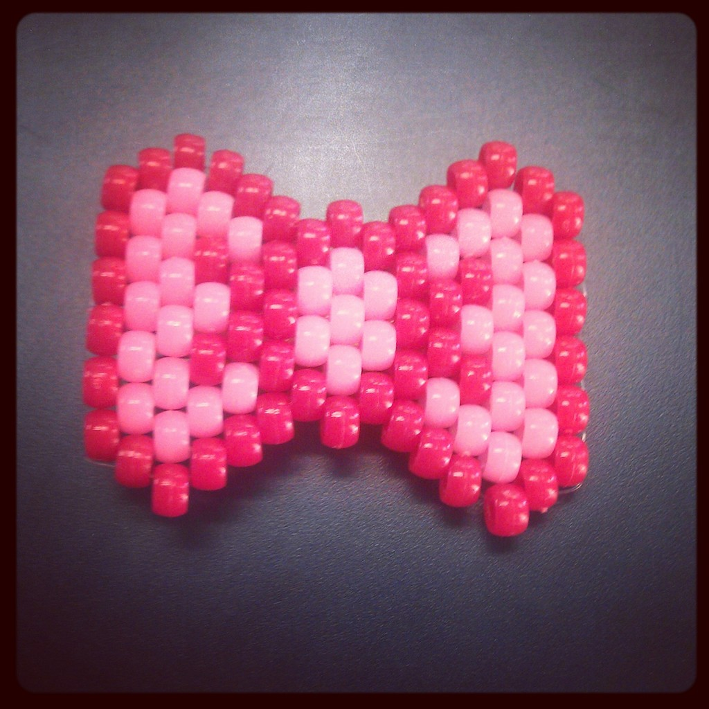 Kandi bow hair clip