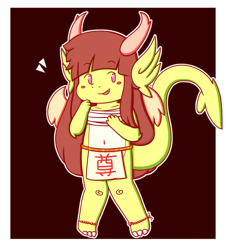 Cheery Dragon Gal