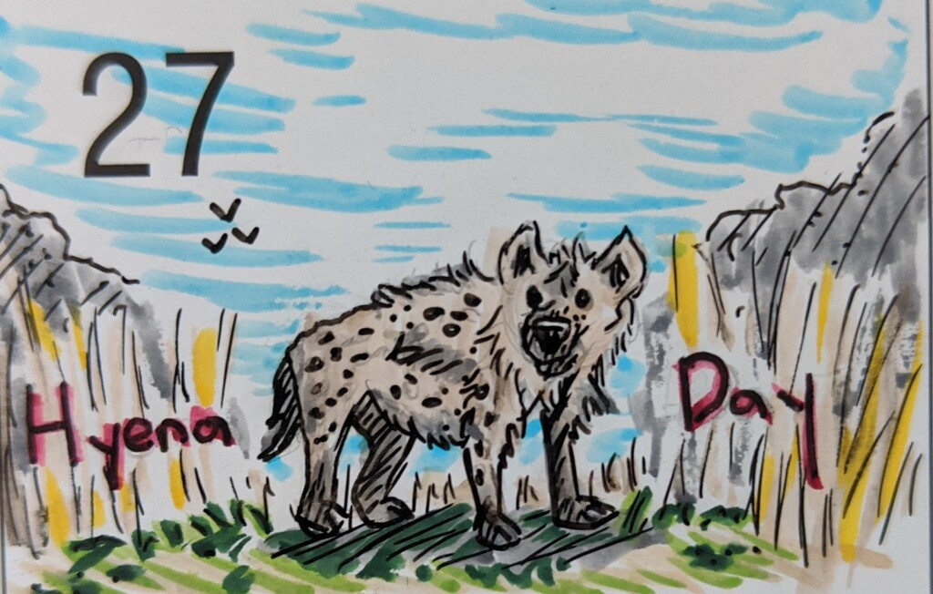 Most recent image: Hyena Day