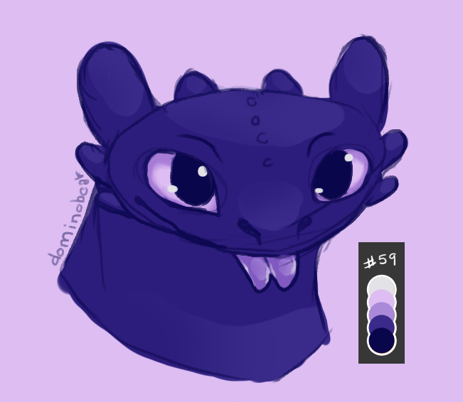 Toothless doodle