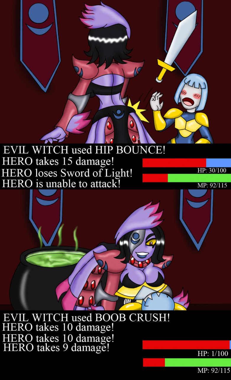 Hero Vs Witch 4: Pinned Down!