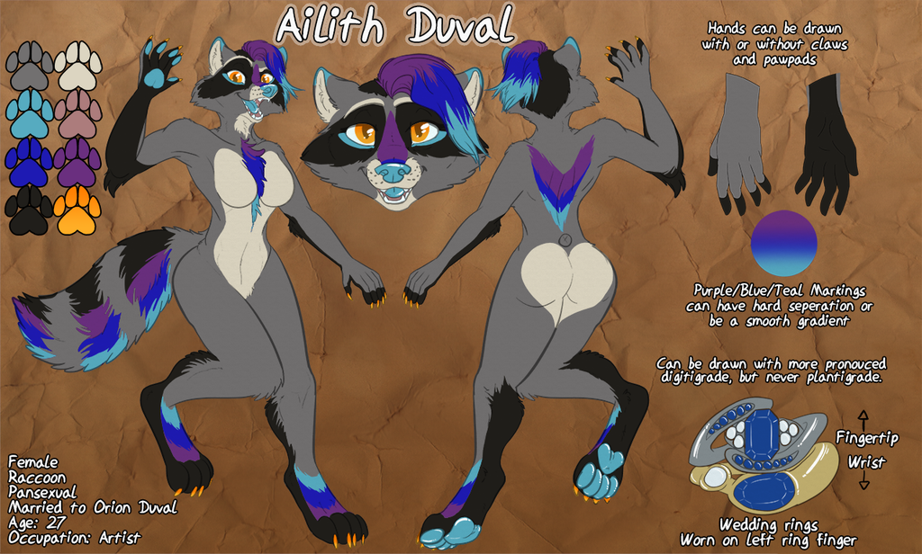 [p] Ailith Ref Sheet Redesign