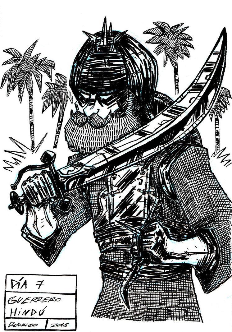 Día 7: Guerrero Hindú.