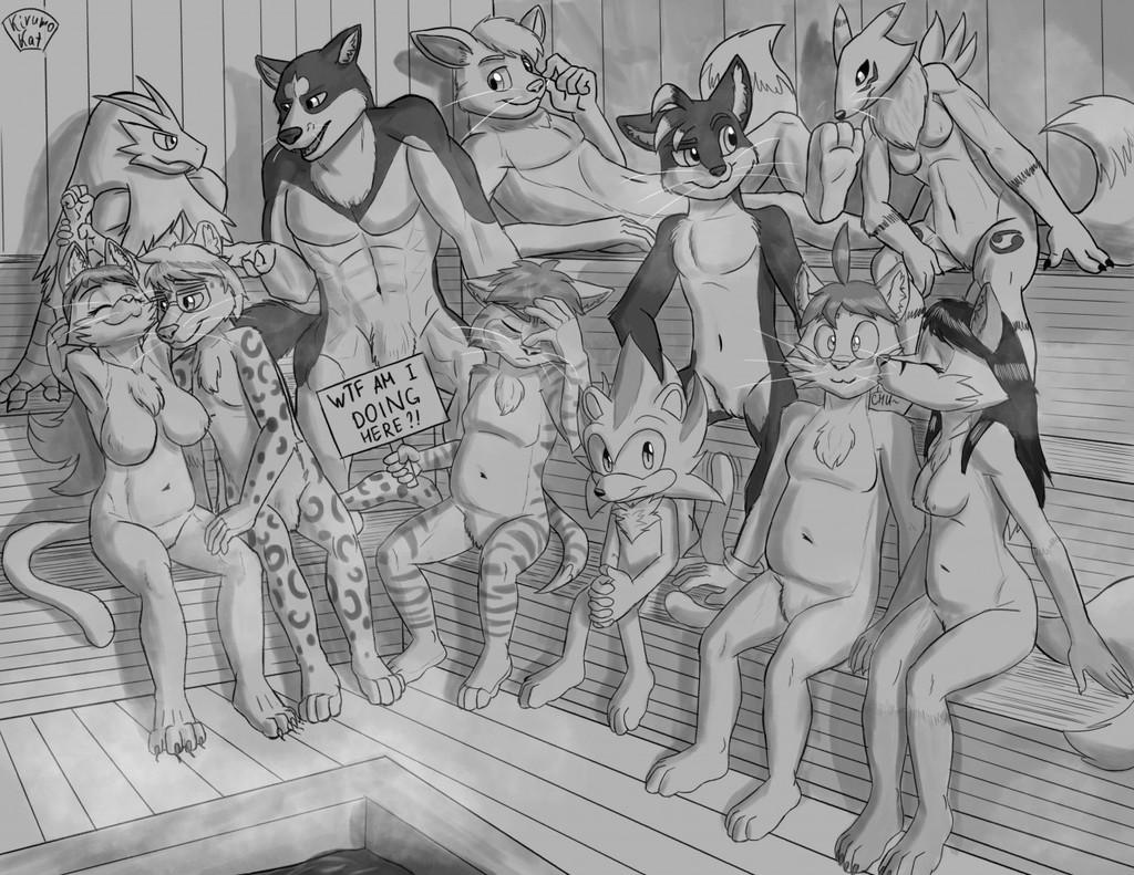 Relaxing in a sauna [SFW]