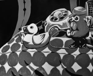 Acrylic Painting--Toys in Three Shades