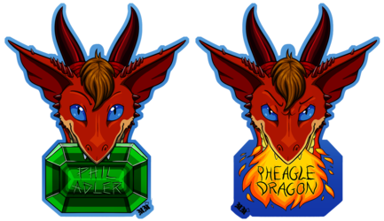 Pheagle Double-Sided Chomp Badge
