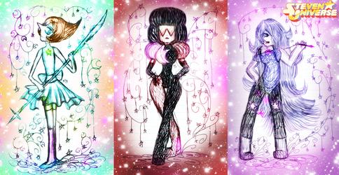 Steven Universe-Pearl Garnet Amethyst