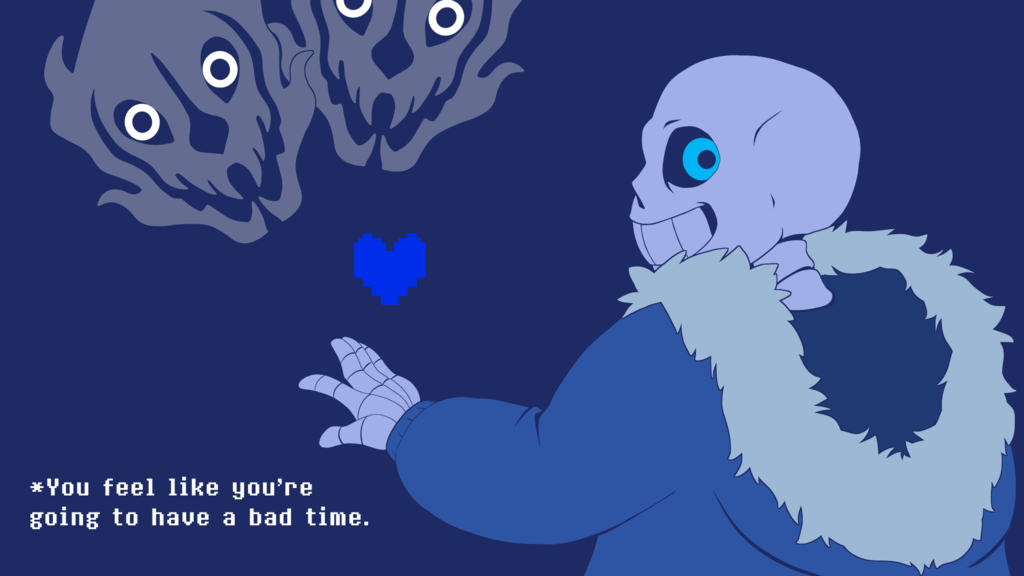 sans gives you a bad time: wallpaper edition