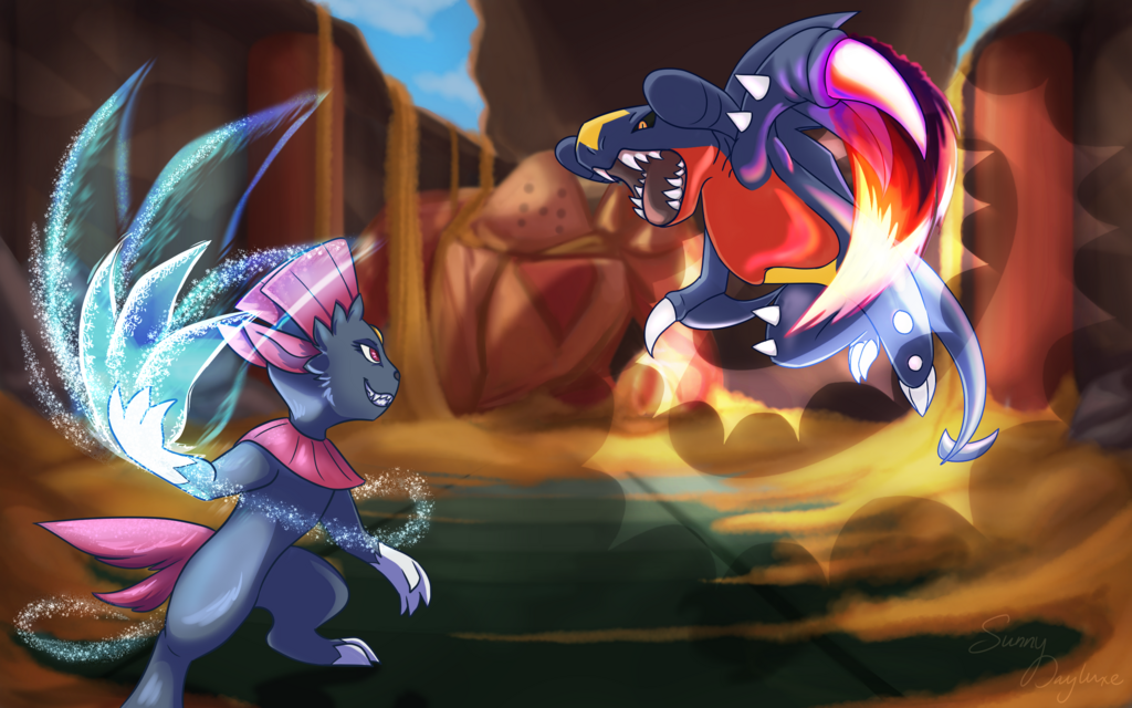 Most recent image: Weavile vs Garchomp