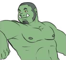 Chillaxin' orc.