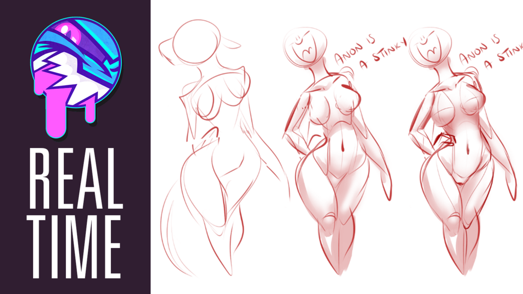 Most recent image: REAL TIME VIDEO | Doodling Anatomy | FEARDAKEZ