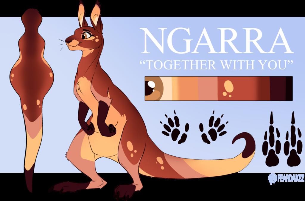 COMMISSION   Ngarra the Kangaroo   FEARDAKEZ