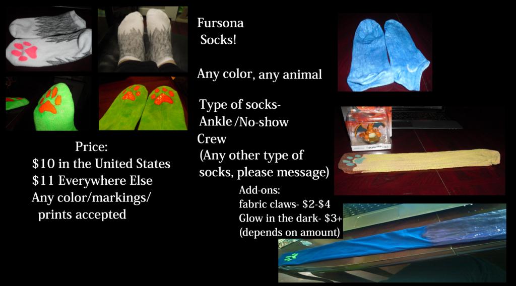 Fursona Socks Commissions