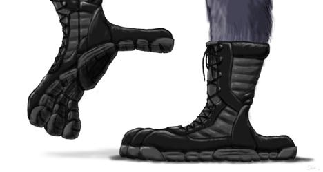 Talon Fashion - Crow Boots for Ian Corvid